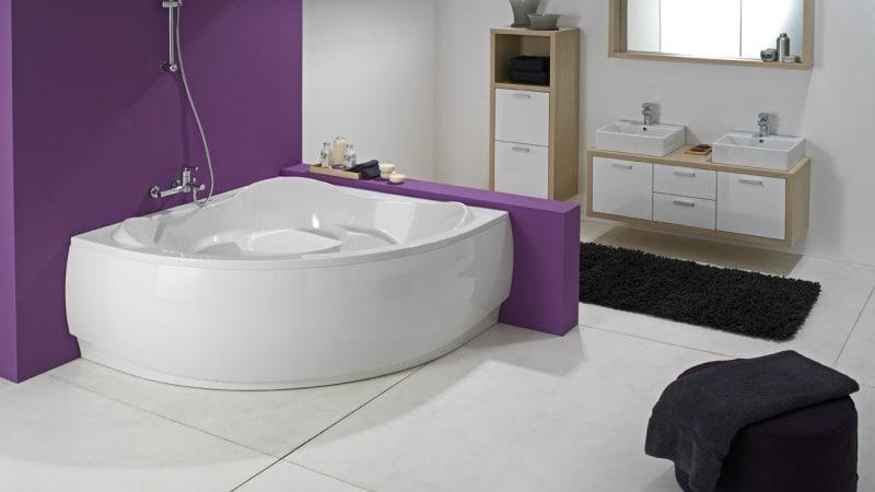 Угловая ванна размеры