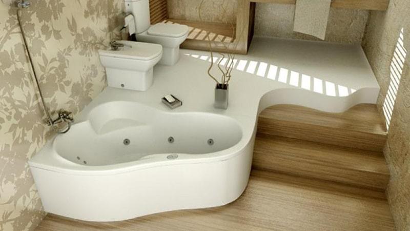 Типы угловых ванн