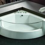 Идеи для оформления угловых ванных