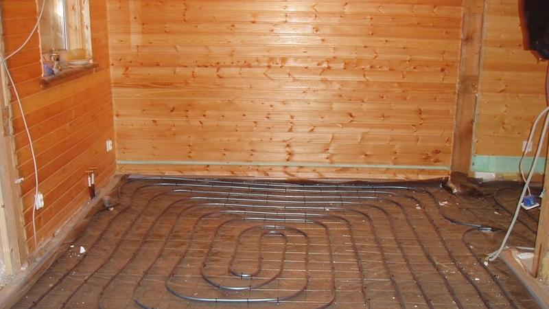 Водяной теплый пол в деревянном доме своими руками