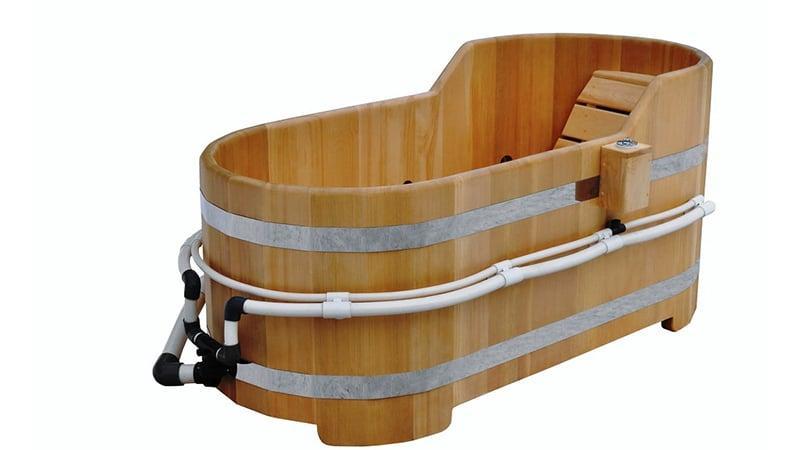 Деревянная ванна-бочка