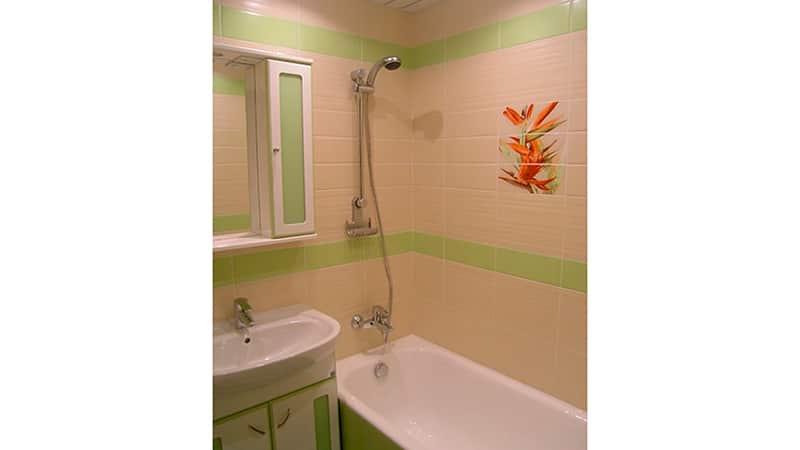 Ремонт в ванной эконом