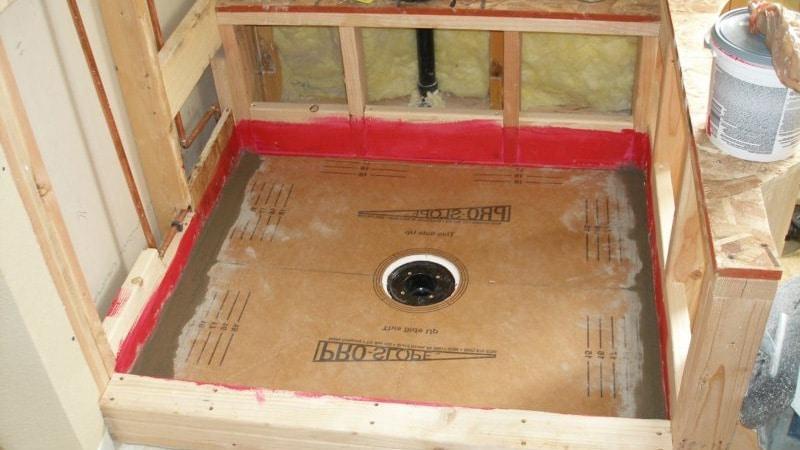 Монтаж основания для установки душевой кабинки