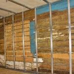Подготовка стен деревянного дома