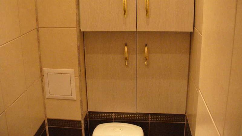 Как спрятать трубы за мебелью