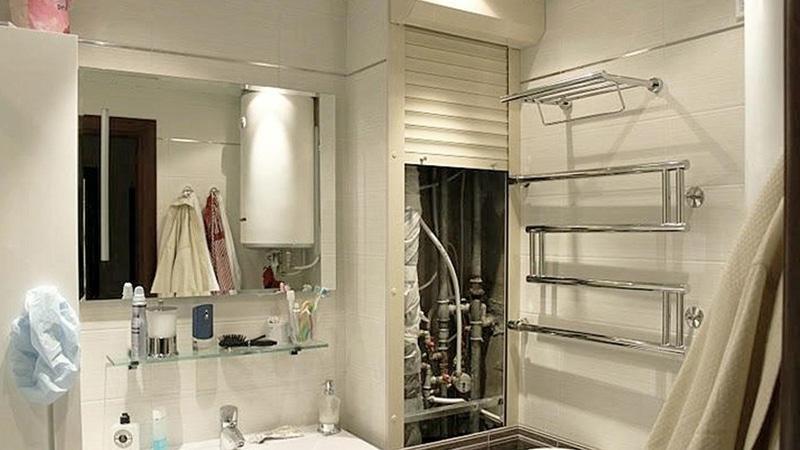 Как спрятать трубы в ванной в стену, под плитку. Видео. Фото