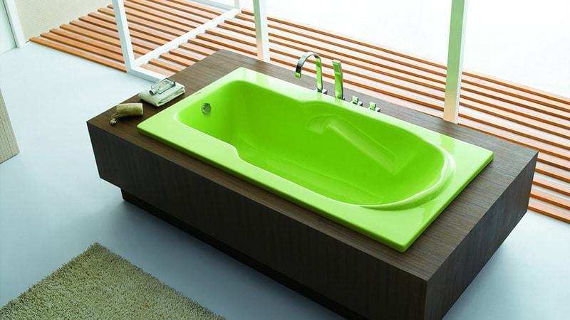 Цветовая гамма акриловых ванн