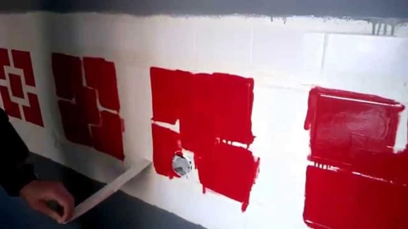 Трафарет для краски плитки