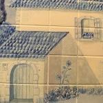 Ручная роспись плитки в ванной