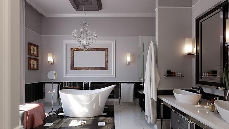 Люстры в ванную комнату на потолок