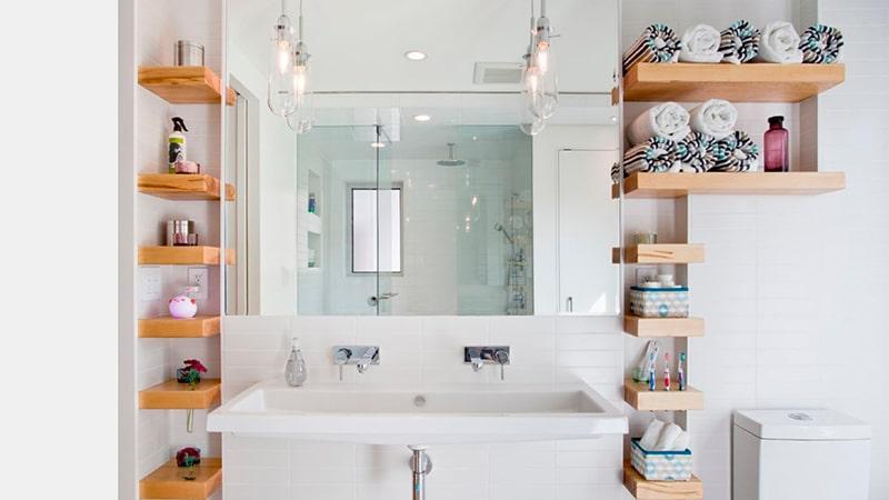 Сделать полочки в ванной своими руками