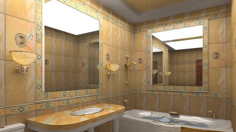 Аксессуары в интерьере маленькой ванной