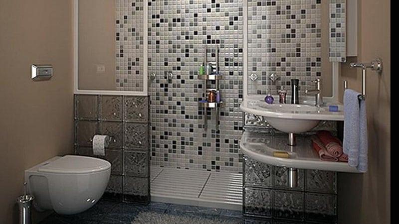 Рациональный дизайн маленькой ванной комнаты