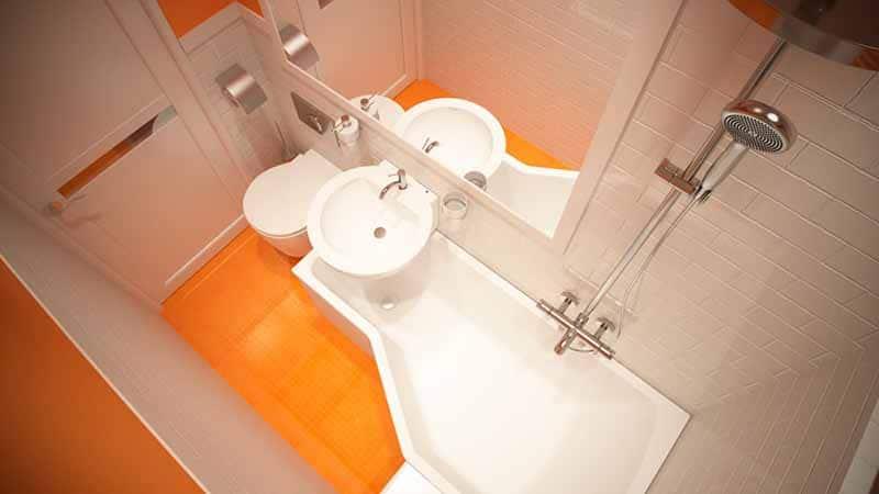 План оформления маленькой ванной