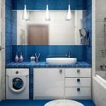 Мозаика в дизайне маленькой ванной