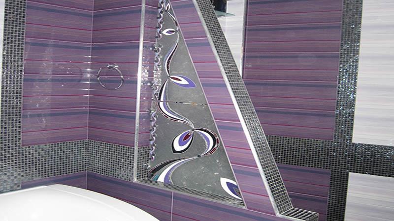 Перегородка в ванной из гипсокартона со стеклом