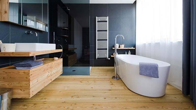 Монтаж влагостойкого ламината в ванной