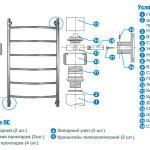 Схема установки полотенцесушителя