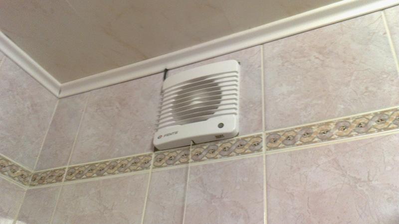 Установка вентилятора