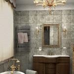 Винтажный дизайн ванной