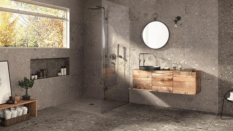 Специфический интерьер ванной в стиле лофт