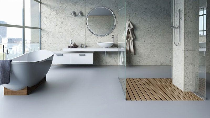 Окно в ванной в стиле лофт