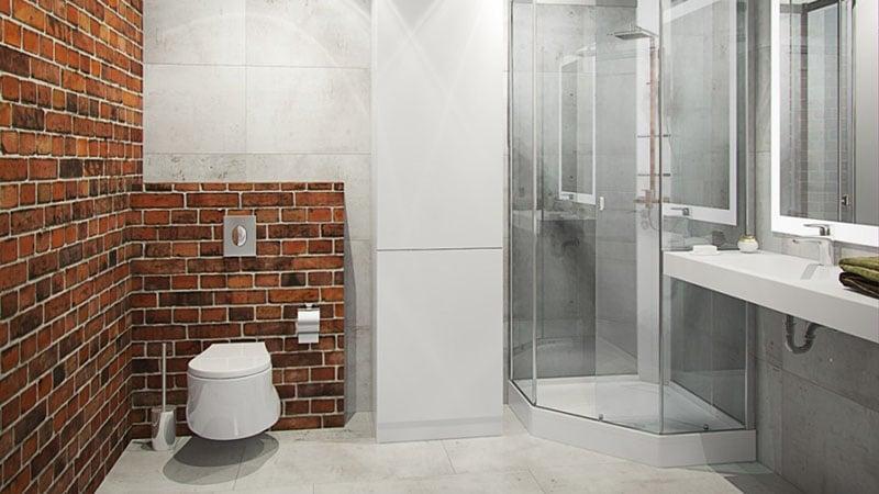Оформление ванной в стиле лофт