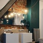 Пример стиля лофт в ванной комнате