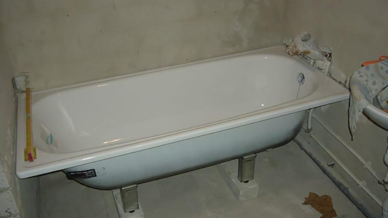 Высота ванны от пола