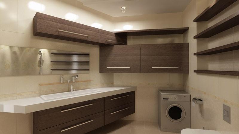 Как разместить стиральную машину в ванной