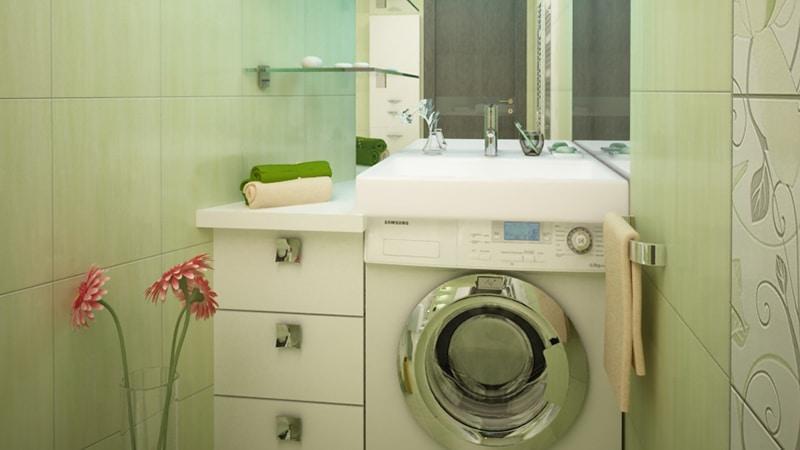 Варианты размещения стиральных машин в интерьере