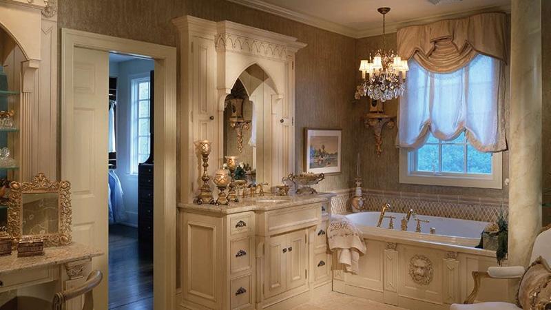 Осветительные приборы для ванной классического стиля