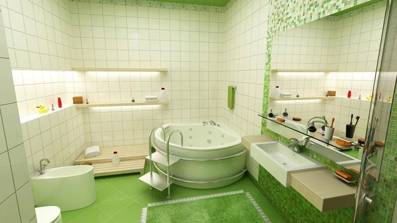 Объем ванн в зависимости от габаритов
