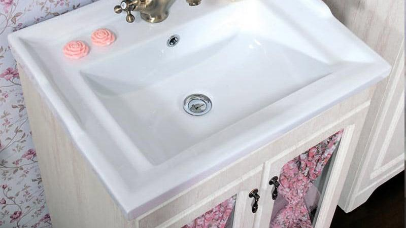 Мебель для ванной кантри под умывальник