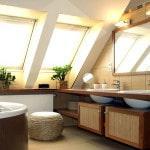Использование подвесных шкафчиков в ванной