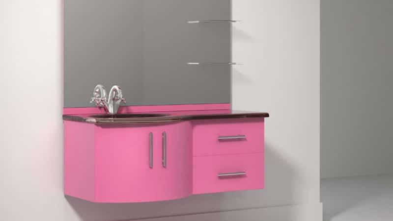 Стильная мебель для ванной комнаты лагуна