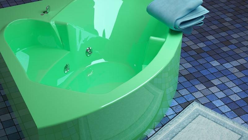 Цветовые решения для акриловых ванн