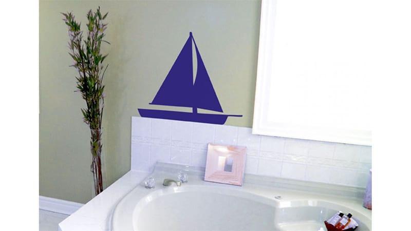 Варианты декорирования стен виниловыми стикерами
