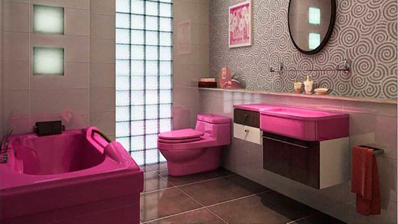 Ванная комната с цветной сантехникой смеситель hansgrohe metris 31280000