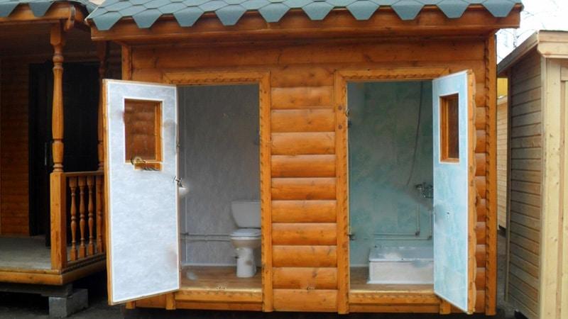 Душ для дачи и туалет для дачи под одной крышей своими руками фото 96