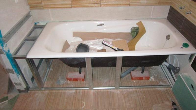 Каркас ванны своими руками фото