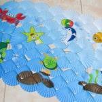 Цветной протиоскользящий коврик для детей