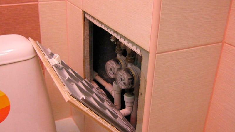 Как сделать люк в туалете под плитку фото