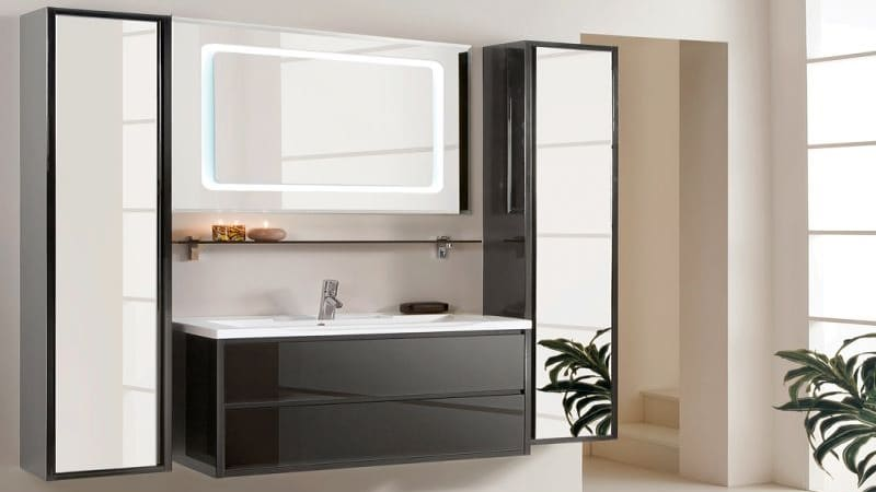Особенности установки напольного пенала в ванной комнате