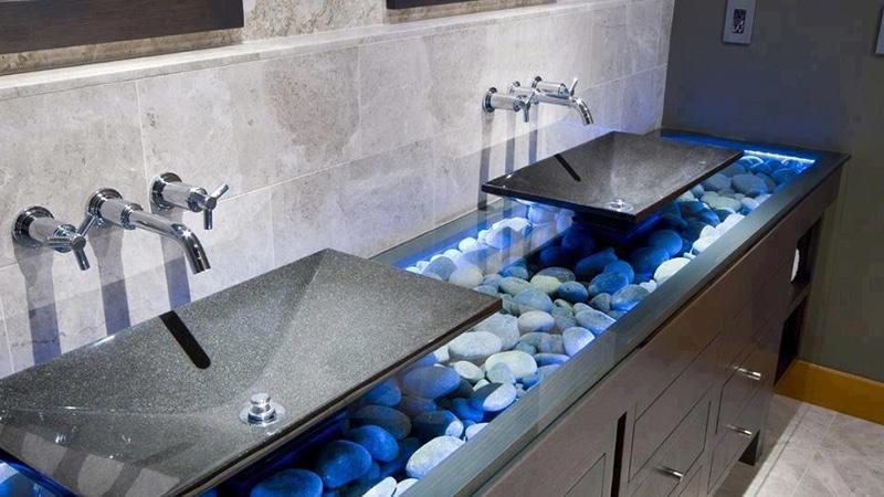 Умывальники в ванную из искусственного камня