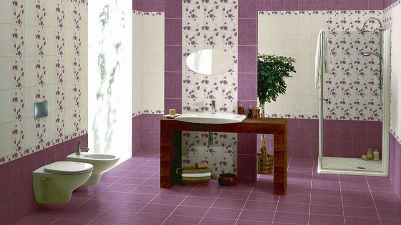 Плитка на стену в ванную комнату своими