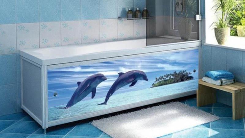 Самоклеющаяся пленка на экране ванны