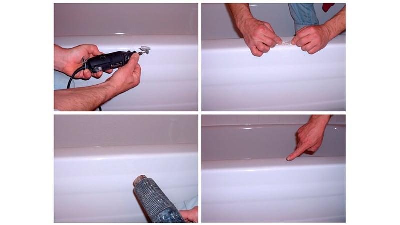 Чем заделать скол эмали в ванной
