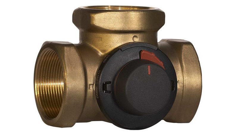 Трехходовой клапан коллектора теплого пола