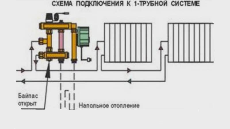 Подключение коллектора своими руками к однотрубной системе